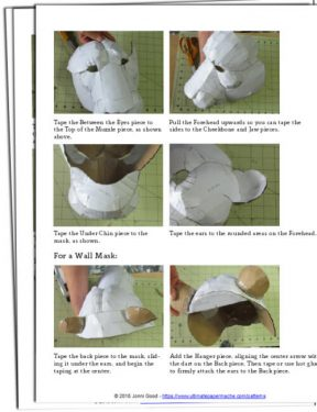 Paper mache lion mask instructions.