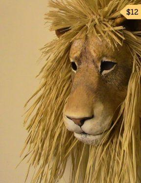 diy paper mache lion pattern