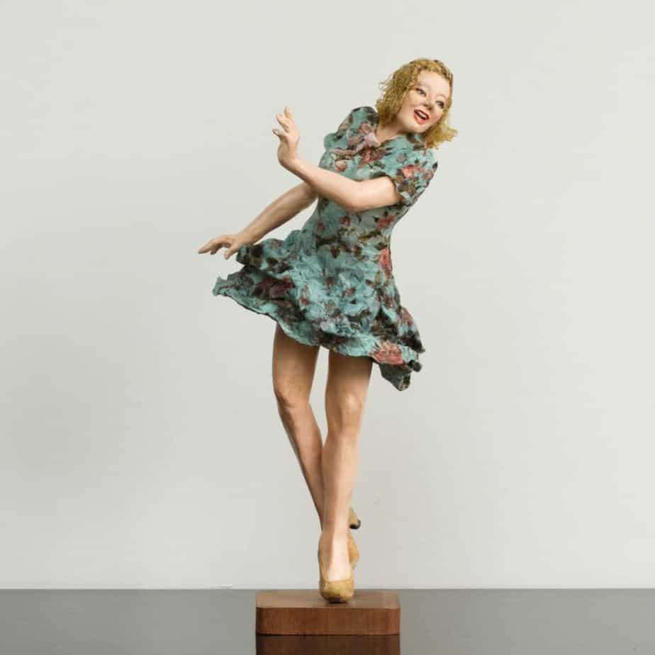 Debbie court sculpture, dancing figure