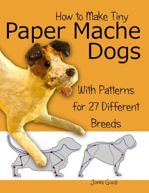 How to sculpt paper mache dogs