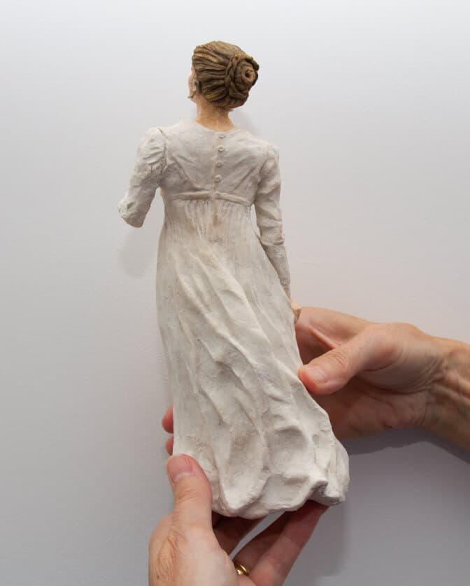 """Debbie Court's figure sculpture, """"The Letter,"""""""