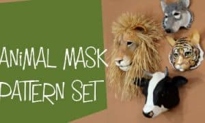 animal mask pattern set