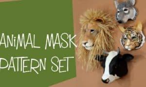 animal mask pattern set