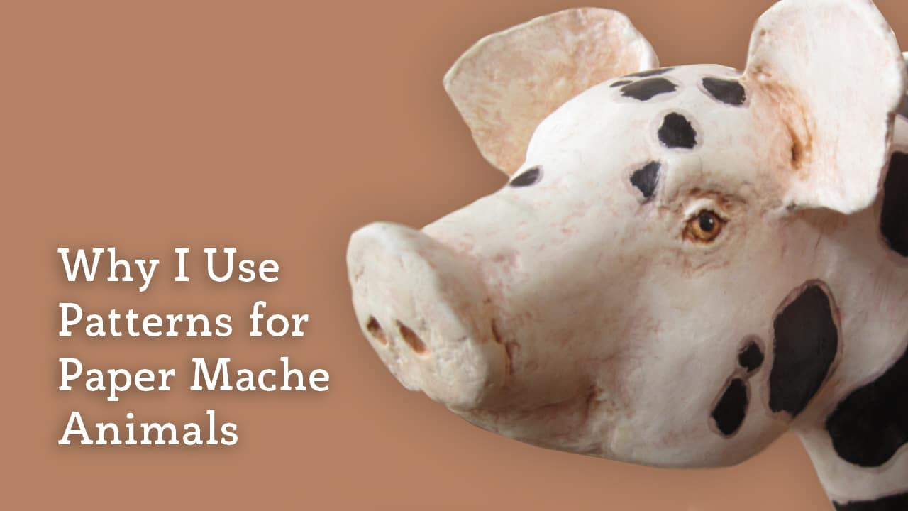 An easy way to make animal sculptures with paper mache.