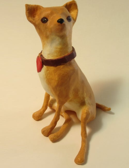 Pattern for a tiny paper mache Chihuahua