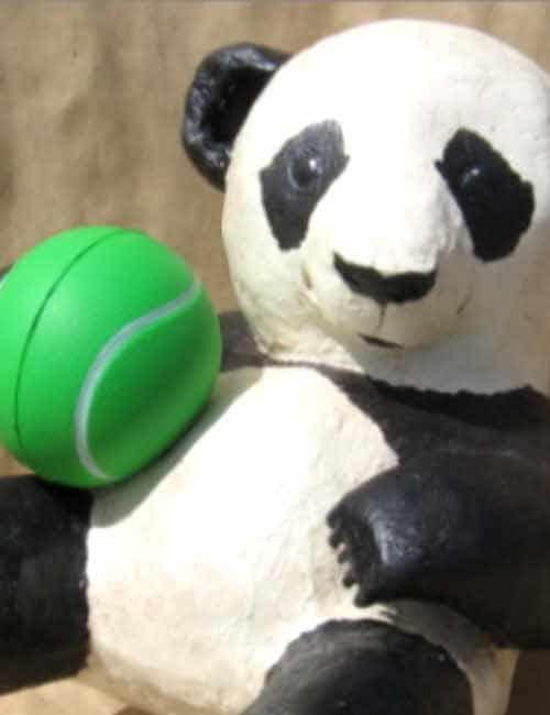 Make a Playful Paper Mache Baby Panda Bear