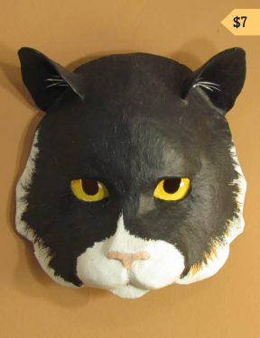 Pattern for a paper mache cat