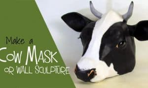 DIY cow mask or wall sculpture