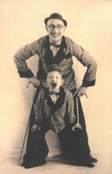 Frank and Francis vaudeville show in 1929