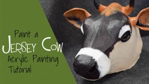 How to paint a Jersey cow with acrylics.