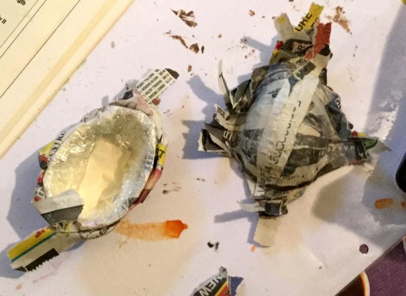 Making the bluebird body hollow.