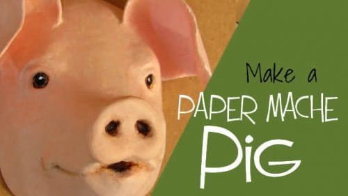 How to make a paper mache pig