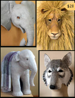 Popular patterns for paper mache sculptures and masks