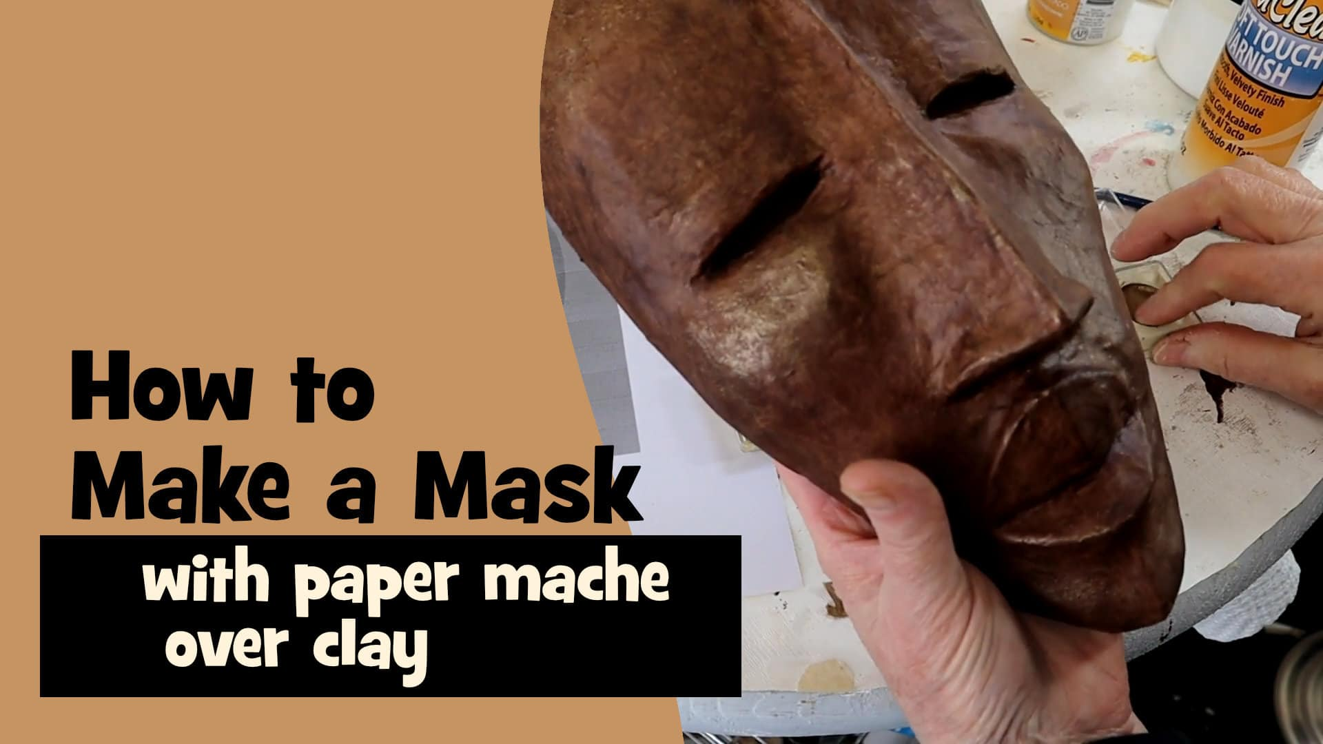 How to make a mask with paper mache
