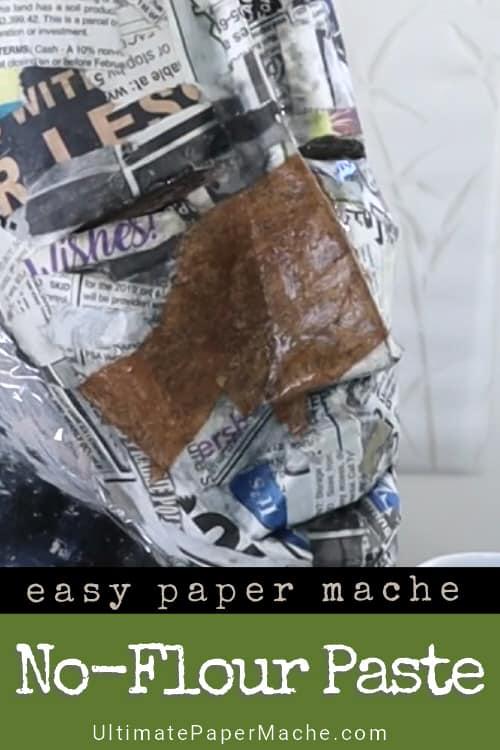 no-flour paper mache paste