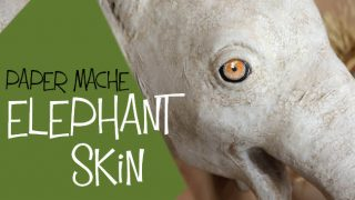 Use crackle glaze for realistic painted elephant skin.