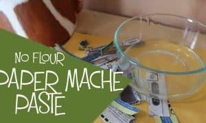 Inexpensive gluten-free paper mache paste.