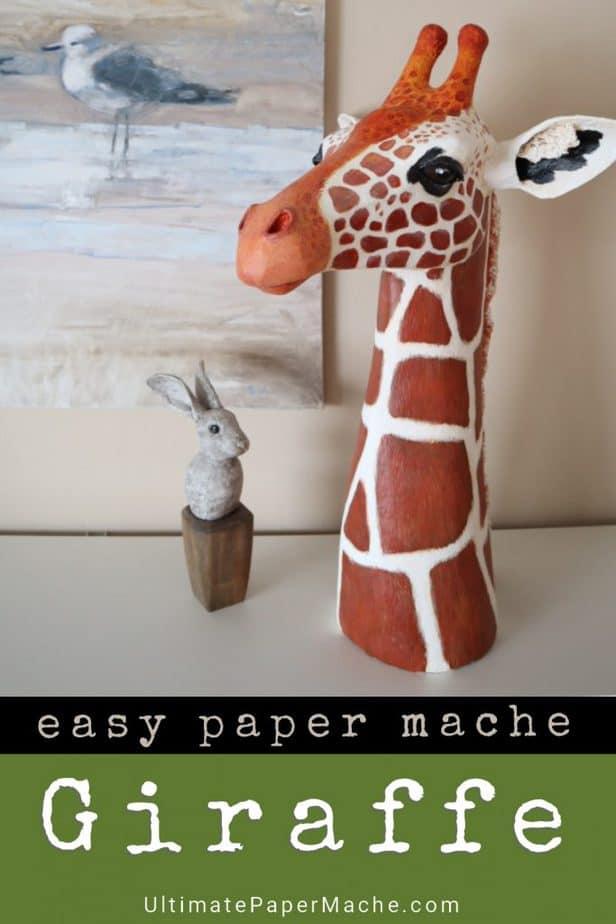 Paper mache giraffe pattern