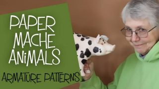 Create paper mache animal sculptures with easy armature patterns.