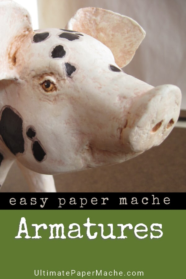 Easy armature method for paper mache animals.