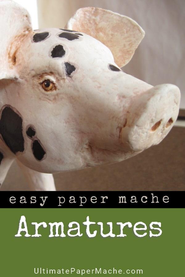 Easy armature method for paper mache animals.