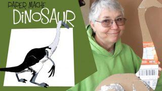 paper mache dinosaur - Therizinosaurus