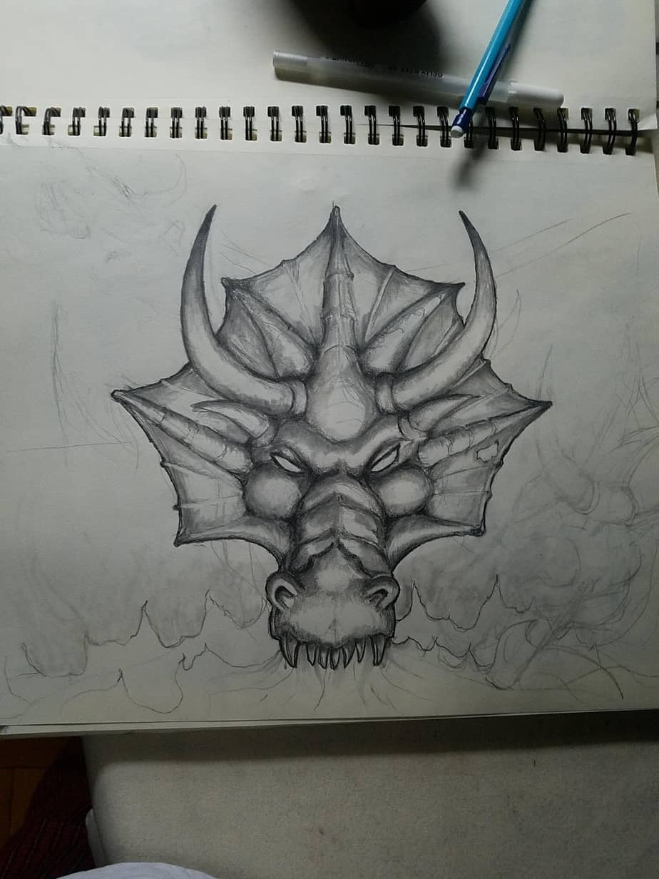Dragon Sculpture Sketch