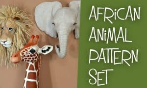 African animal pattern set