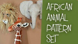 African animal pattern set