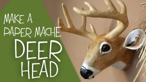Paper Mache Deer Head Pattern