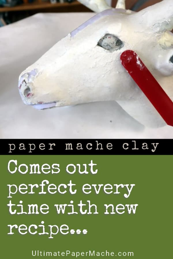 New paper mache clay recipe