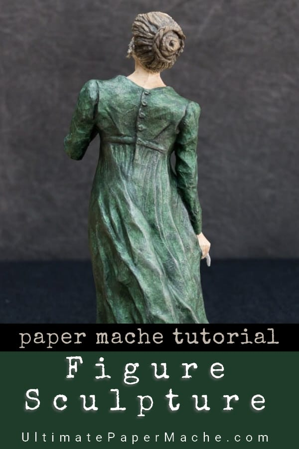 Make a figure sculpture with paper mache clay