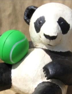 baby panda paper mache