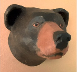 black bear made with pattern