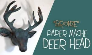 bronze paper mache deer head