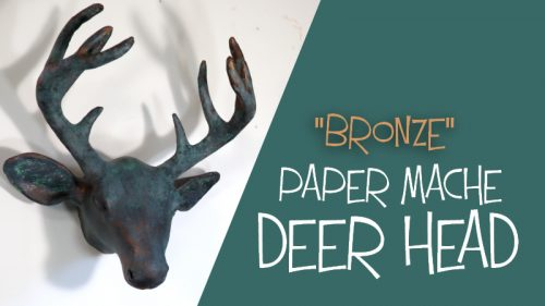 bronze paper mache deer head