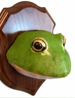 giant bullfrog 'faux trophy mount'