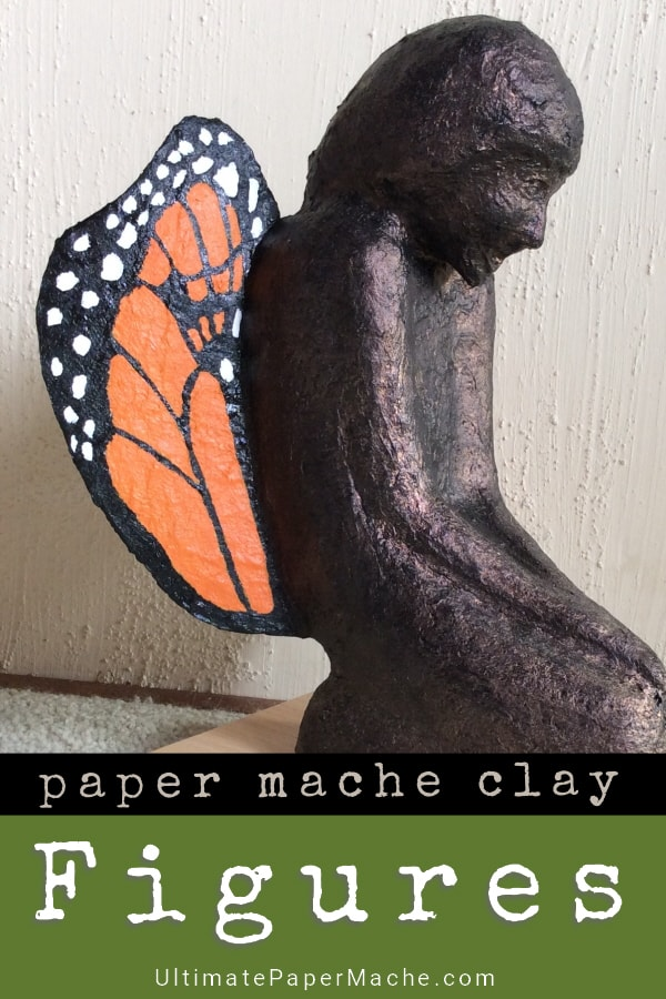 Seven Figure sculptures made with paper mache clay