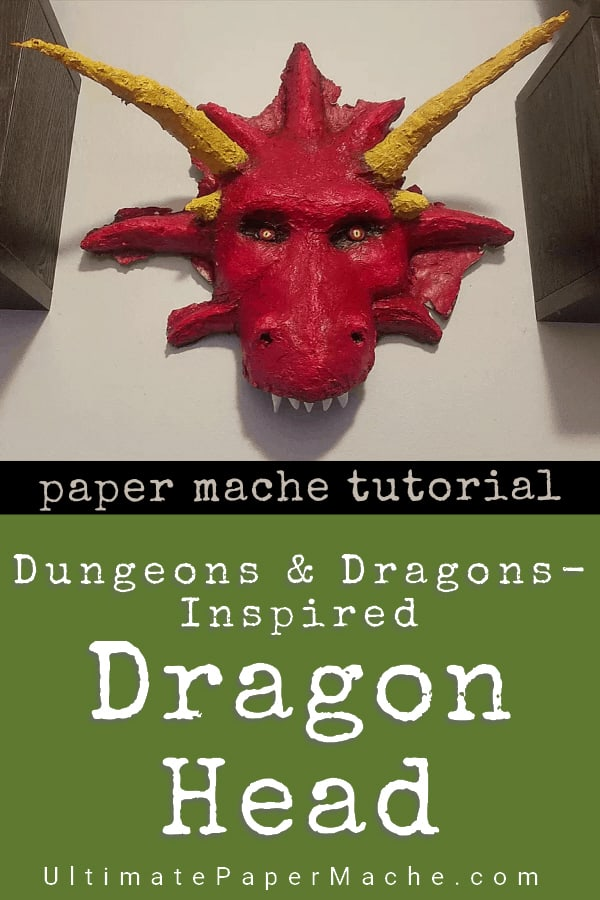 Dragon head tutorial inspired by Dungeons and Dragons.