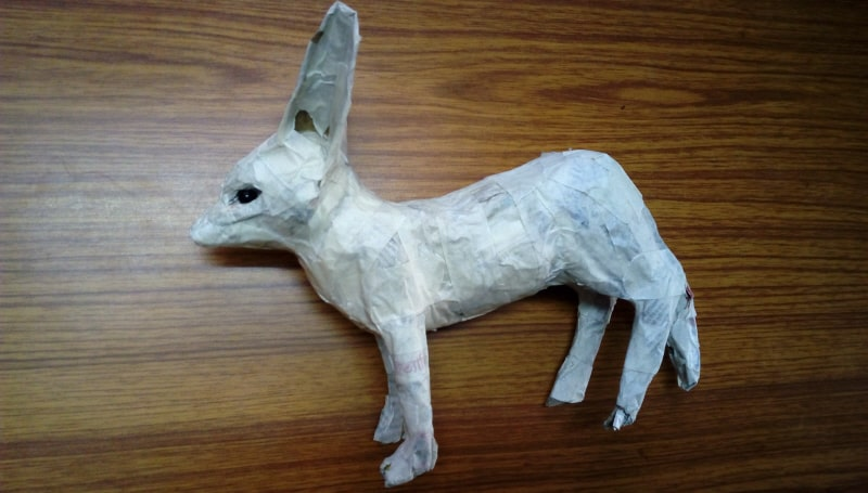 Ears for the paper mache fennec fox