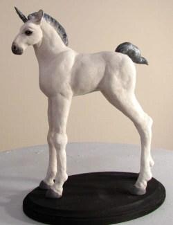 Baby unicorn sculpture