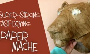 strong fast-drying paper mache