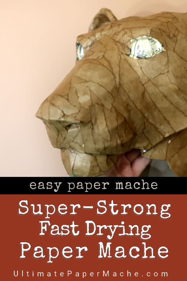 Super-strong fast-drying paper mache.