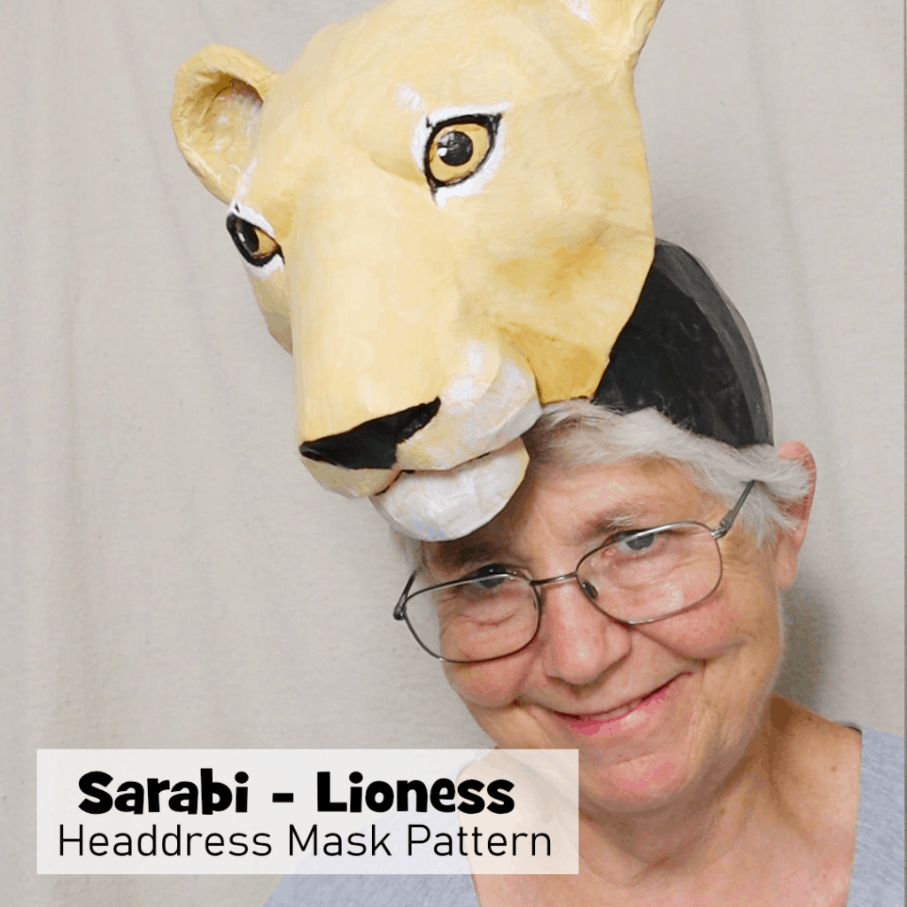 Lioness Headress Pattern for the Lion King Play