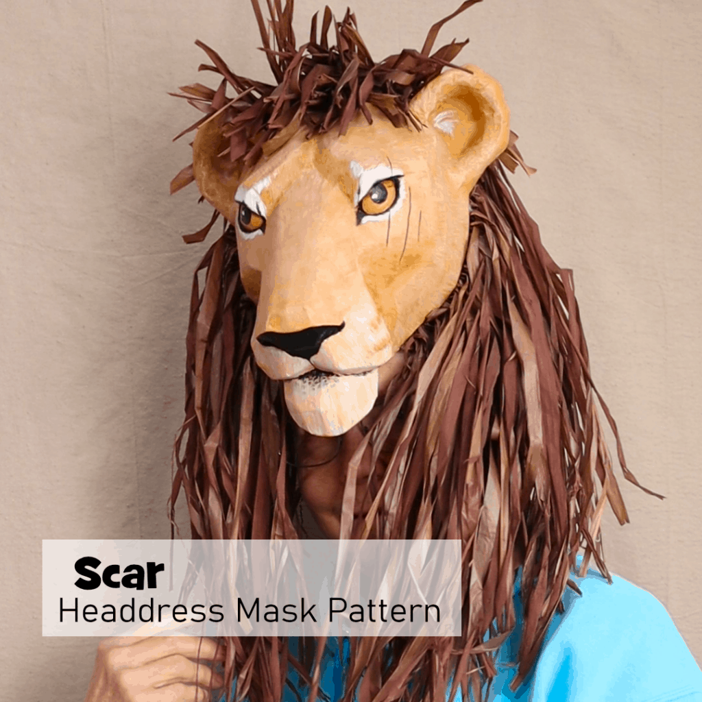 Scar Headress Pattern for the Lion King Play