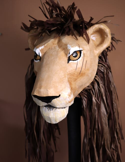 Scar Mask Pattern for the Lion King Play
