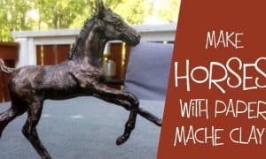 How to sculpt a horse with paper mache clay..
