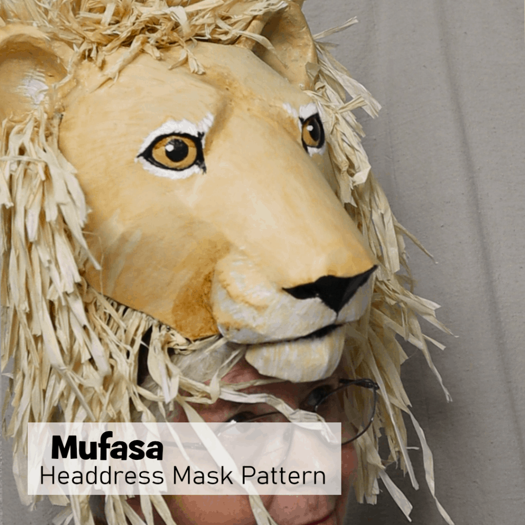 Mufasa and Grown-Up Simba Headress Pattern