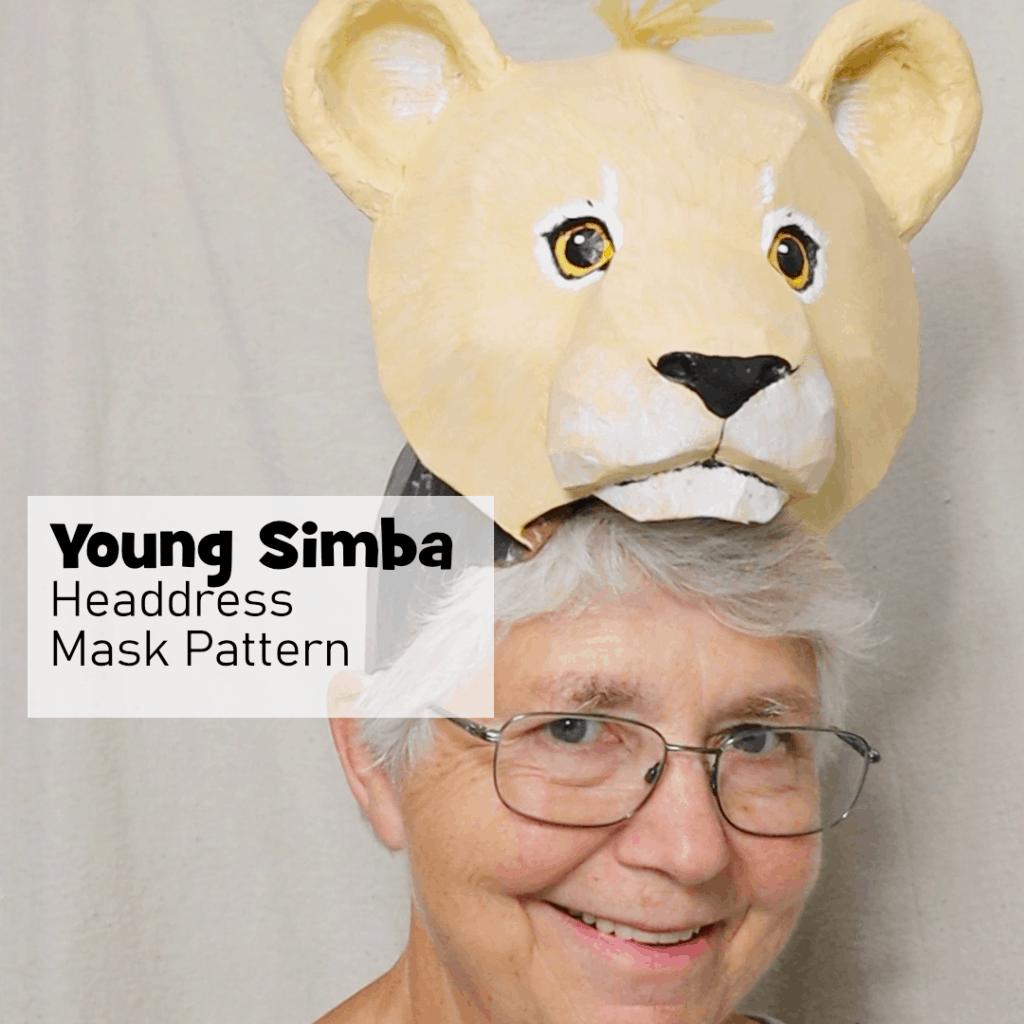 Young Simba Headress Pattern for the Lion King Play