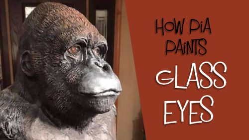 How to paint glass eyes for animal sculptures.